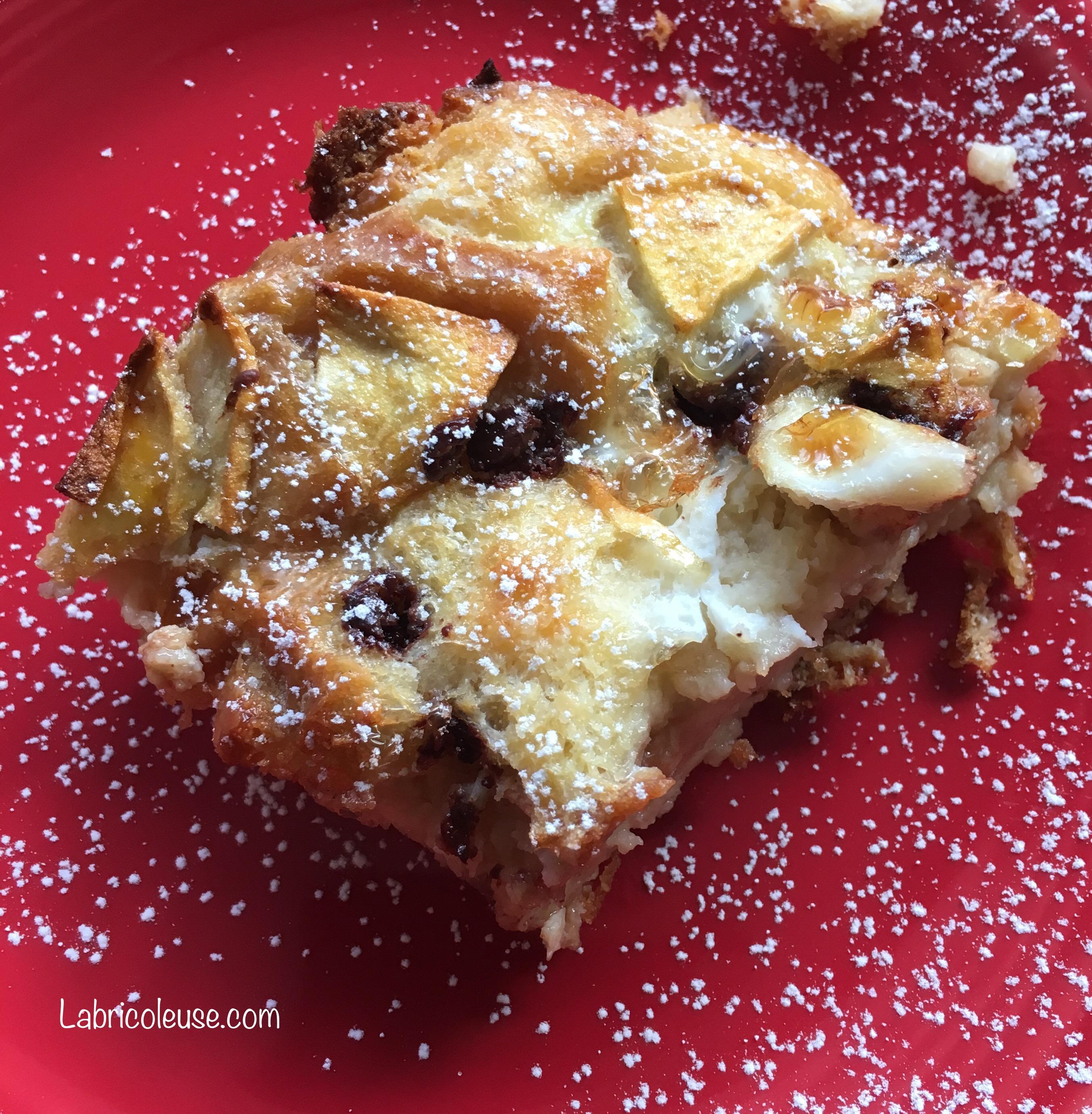 Pudding choco-pomme pour un petit déjeuner gourmand!
