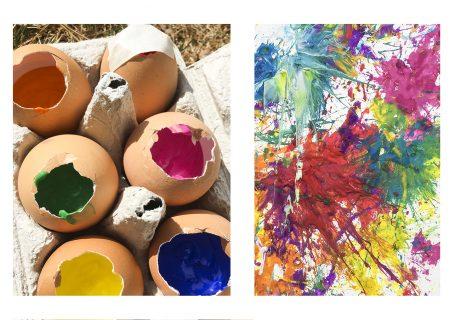 Peinture au lancer d'oeufs