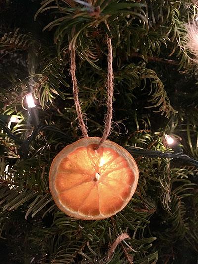 Agrumes séchés pour ornement de Noël.