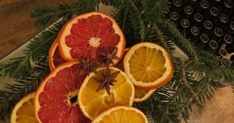 Agrumes séchés pour une déco de Noël naturelle