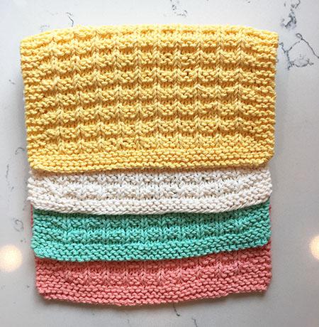 Lavettes tricotées
